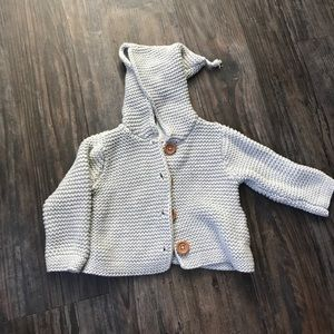 Stem Baby Other - Stem 6 month organic cotton hooded cardigan