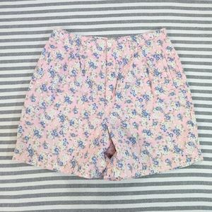 Dockers Pants - Pastel floral high waist pleated mom shorts 16