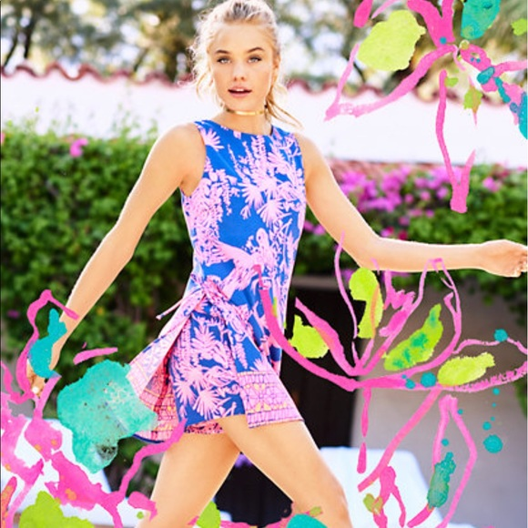 2bc14eaa505c Lilly Pulitzer Dresses   Skirts - Lilly Pulitzer Donna Shift Romper - Night  Caw
