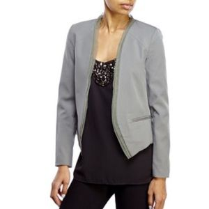Necessary Objects Jackets & Blazers - Necessary objects mesh trim open blazer in olive