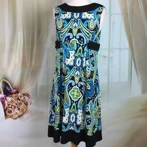 A. Byer Multi Colored Sleeveless Dress