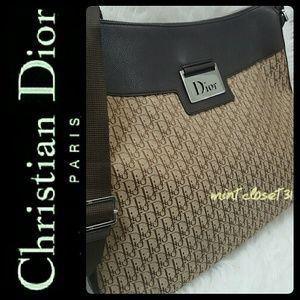 Dior Handbags - Christian Dior Italy Canvas Leather Crossbody Bag