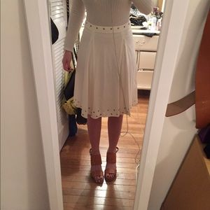 SUNO Dresses & Skirts - Ivory and gold SUNO skirt size 2