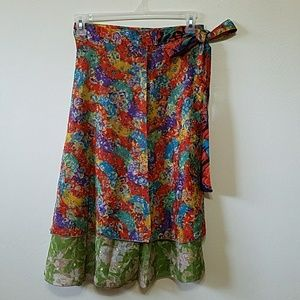 Boom Shankar Dresses & Skirts - Wrap around silk skirt