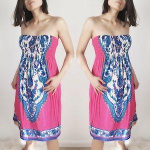 CHICBOMB Dresses & Skirts - PINK strapless dress