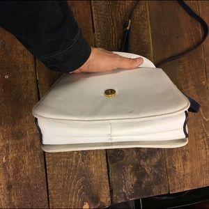 Bags - Vintage blue and off white  shoulder bag