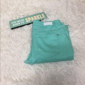 Celebrity Pink Pants - Celebrity pink jeans mint green low rise skinny 11