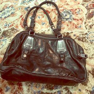 B Makowsky Handbags - B. Makowsky black leather pocketbook