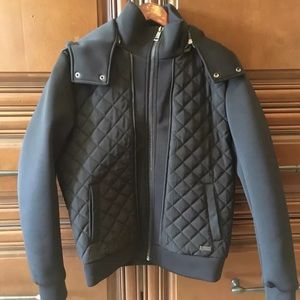 Guess Other - Guess Italy Men's quilted jacket removable hood