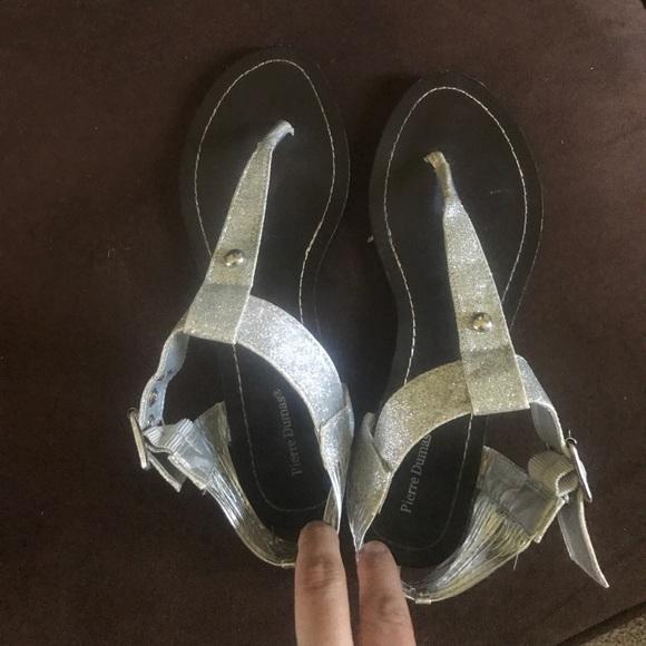 Pierre Dumas Shoes - Pierre Dumas  silver sparkle sandals