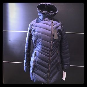 Brand new puffy down coat with hood