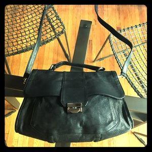 Lauren Merkin Handbags - Lauren Merkin Black Leather Marlow Satchel
