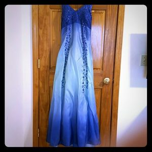BOGO Onyx nite Prom dress Blue with sequence