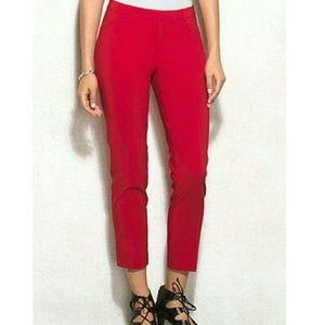 Larry Levine Pants - NEW Larry Levine Women's Capri Pants, size 10, red