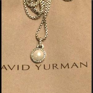 David Yurman Jewelry - David Yurman Cerise Diamond Pearl Necklace