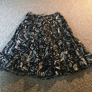 tapemeasure Dresses & Skirts - Black and White high waisted flares skirt
