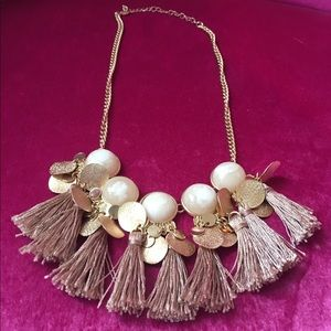 H&M opal and tassel necklace
