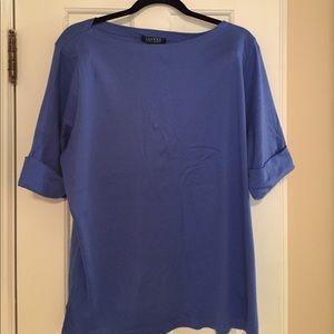 Ralph Lauren blue ballet neck shirt size 3X NEW