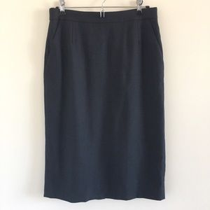 J. Crew Dresses & Skirts - J. Crew Super 120's 100% Wool Navy Pencil Skirt