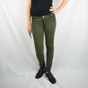 refuge Pants - Forrest Green Skinny Legging Jegging Jean Sz 4