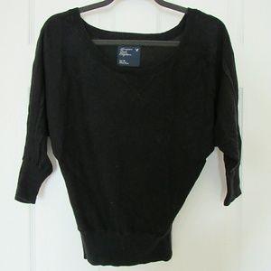 American Eagle Dolman Sleeve Black Kni Sweater Top