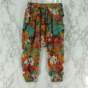 Other - Colorful Flowers loose pants. Kids