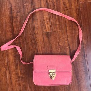 TopShop Pink Snake Skin Crossbody Bag