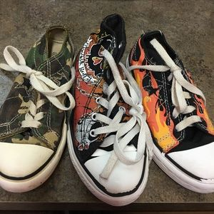 Converse Other - 3 Converse Boys Shoes Size 12. High tops