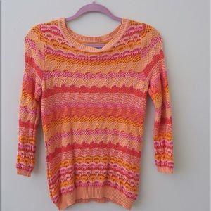 Colorful anthropologie sweater
