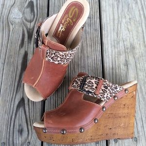 Sbicca Shoes - SBICCA Wedges Cognac Cheetah 8
