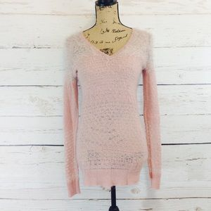 valette Sweaters - Light Pink Sparkly Sweater