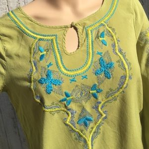 Energie Tops - Hippy Chic Earth Green Top