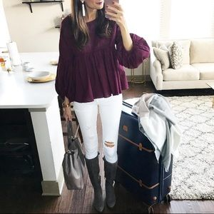 Chicwish bell sleeve peasant blouse