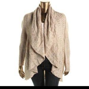 Karen Scott Sweaters - Draped Open Front Cardigan