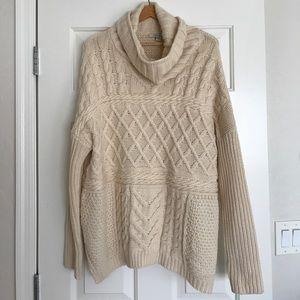 Sweaters - Cream coal neck sweater