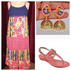 Crocheted Top Maxi Dress