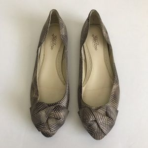 Lela Rose Shoes - Lela Rose Silky Pointed Patterned Ballet Flats sz9