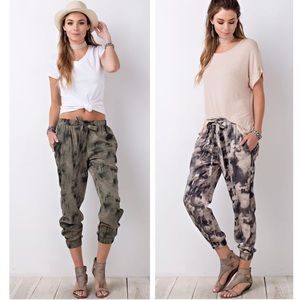 Clearance! Printed Jogger Ankle Pants