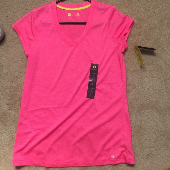 25 off xersion tops small hot pink xersion athletic for Hot pink running shirt