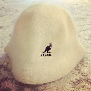Kangol Accessories - White Kangol angora casual bucket hat