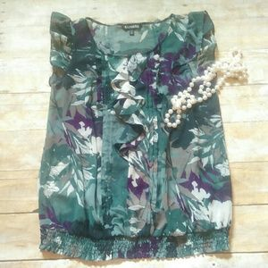 Express Tops - Express Floral Sheer Top Size Medium