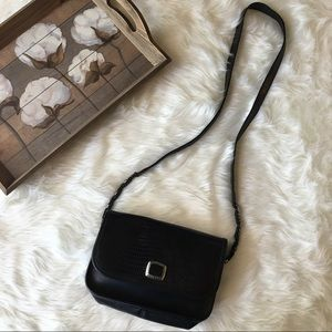 Brighton Handbags - Brighton Vintage 90's  Black Leather Cross Body