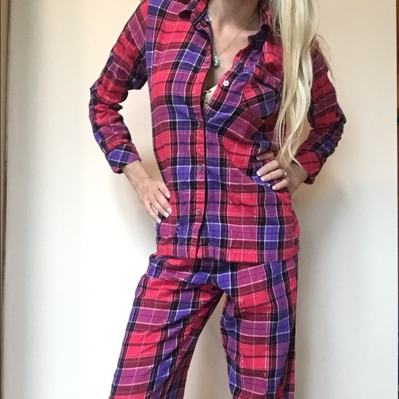 993f8b760f904 Victoria Secret plaid flannel pajama set