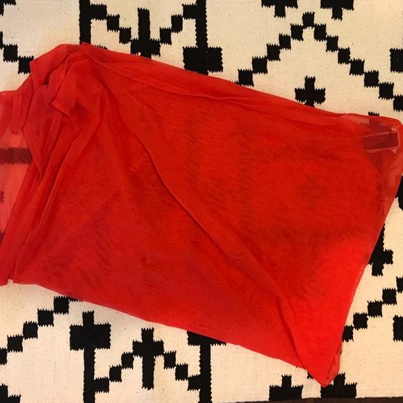 Jessika Allen Swim - Red halter top bikini and sarong
