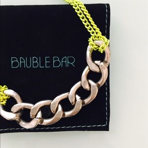 Bauble Bar Jewelry - Bauble Bar Neon Chain Link Necklace