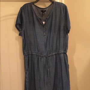 Chambray Denim Dress NWT