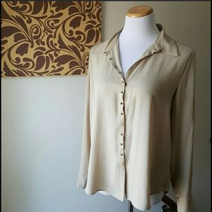 Vince Camuto Tops - Vince Camuto studded, beige blouse