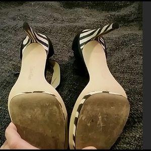 66e1404c09a2 Calvin Klein Shoes - Calvin Klein Vivian Zebra Heel Size 8