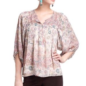 Anthropologie Tops - Anthropologie Lil Top 3/4 sleeve size Small EUC