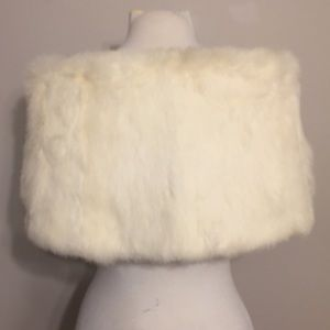 Vintage Accessories - Vintage authentic White Rabbit Fur Stole wrap